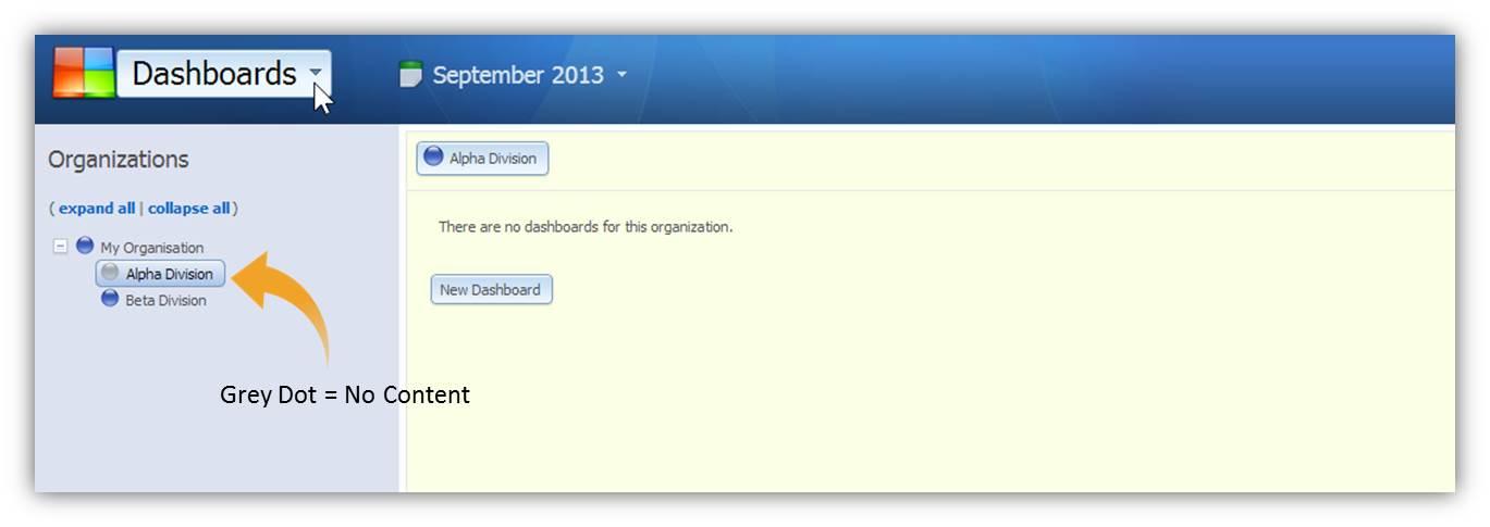 Organisations - Grey Dot